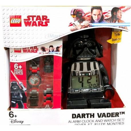 PACK de Reloj Despertador Darth Vader + Reloj de Muñeca
