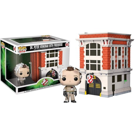 GHOSTBUSTERS - TOWN - DR. PETER VENKMAN WITH FIREHOUSE (03)