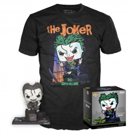DC Jim Lee POP! & Tee Set The Joker Exclusive TALLA L