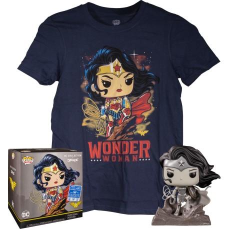 DC Jim Lee POP! & Tee Set Wonder Woman Exclusive TALLA M