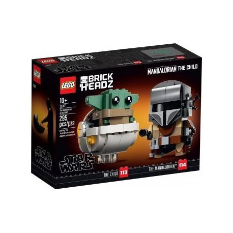 LEGO STAR WARS 75317 BRICKHEADZ EL MANDALORIANO Y EL NIÑO (BABY YODA)