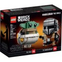 LEGO STAR WARS 75317 BRICKHEADZ EL MANDALORIANO Y EL NIÑO