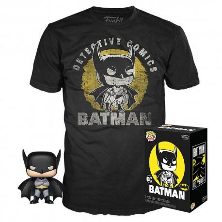 DC Comics POP! & Tee Set de Minifigura y Camiseta Batman Sun Faded heo Exclusive talla M