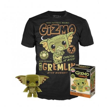 Gremlins POP! & Tee Set de Minifigura y Camiseta Gizmo talla L