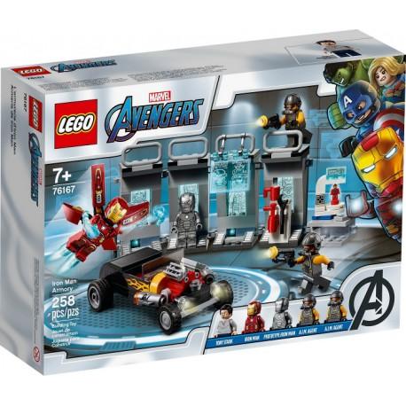 LEGO Marvel 76167 Armería de Iron Man caja