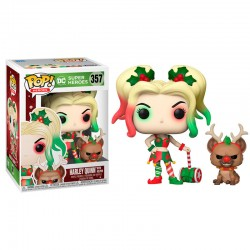 FUNKO POP DC COMICS HARLEY QUINN WITH HELPER (357)