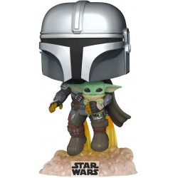 FUNKO POP STAR WARS THE MANDALORIAN WITH THE CHILD FLYING (402)