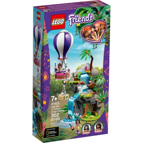 LEGO Friends 41423 Rescate en la Jungla del Tigre en Globo caja