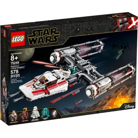 LEGO Star Wars 75249 Caza Estelar Ala-Y de la Resistencia caja