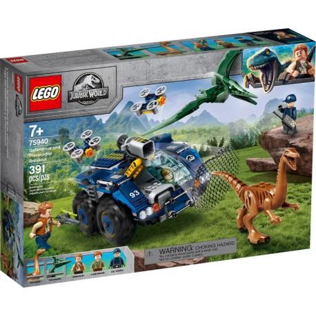 LEGO JURASSIC WORLD 75940 Fuga del Gallimimus y el Pteranodon