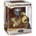 FUNKO POP STAR WARS Deluxe: The Mandalorian - Mando on Bantha with Child in Bag (416)