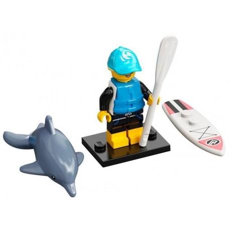 LEGO MINIFIGURA SERIE 21 PADDLE SURFER