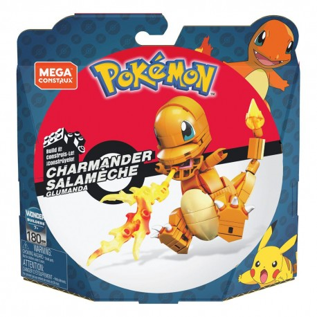 Pokémon Kit de Construcción Mega Construx Wonder Builders Charmander 10 cm