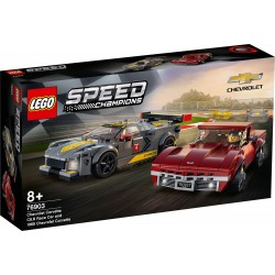 LEGO SPEED CHAMPIONS 76903 Deportivo Chevrolet Corvette C8.R y Chevrolet Corvette de 1968