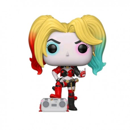FUNKO POP HEROES DC REBIRTH HARLEY QUINN WITH BOOMBOX (279) EXC