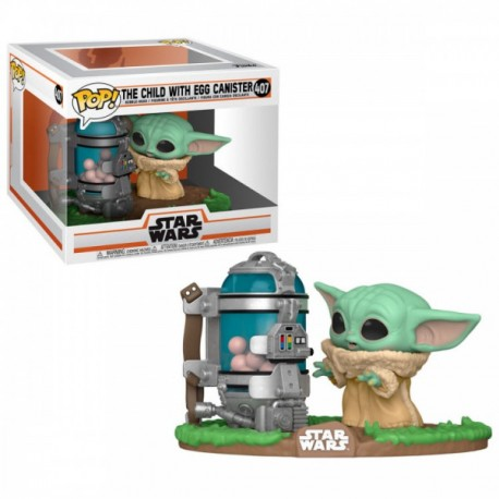 FUNKO POP STAR WARS DELUXE THE CHILD WITH EGG CANISTER (407)