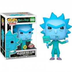 FUNKO POP ANIMATION RICK AND MORTY HOLOGRAM RICK CLONE (666) EXC